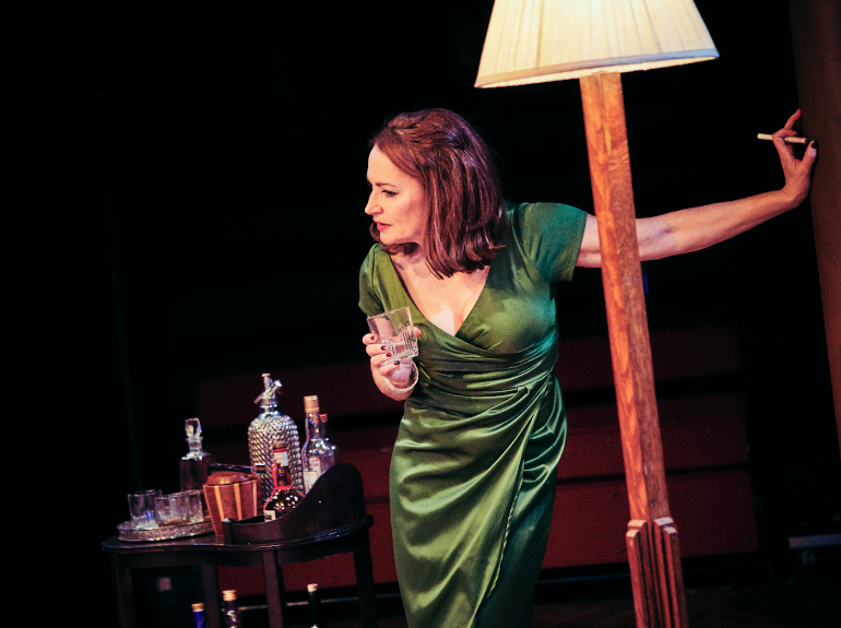 Pooky Quesnel as Martha in Whos Afraid of Virginia Woolf at Tobacco Factory Theatres, Bristol. Photo Mark Dawson