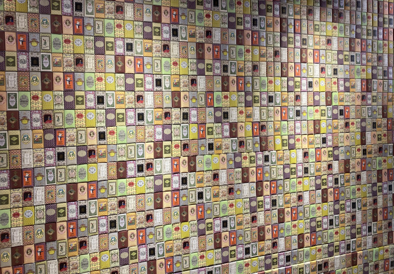 Claus Porto soap wall by James Hainsworth