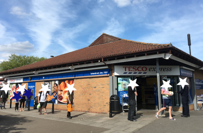 Tesco line-up_by Judy Darley