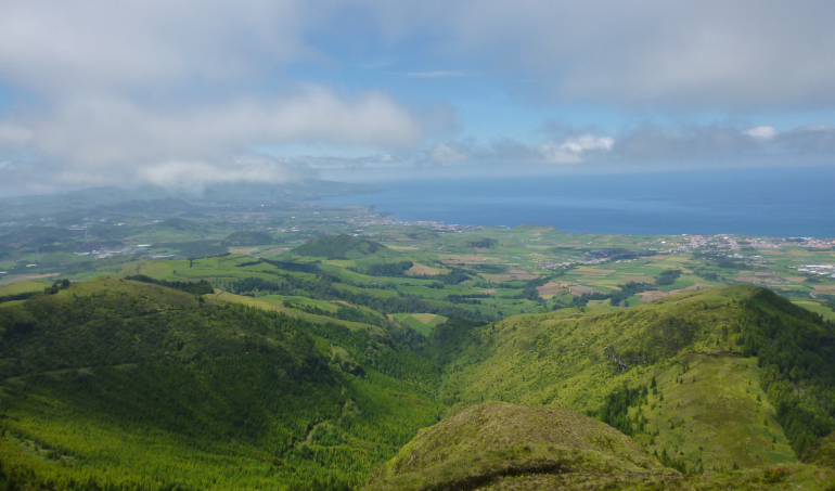 Azorean views over the Atlantic by Judy Darley