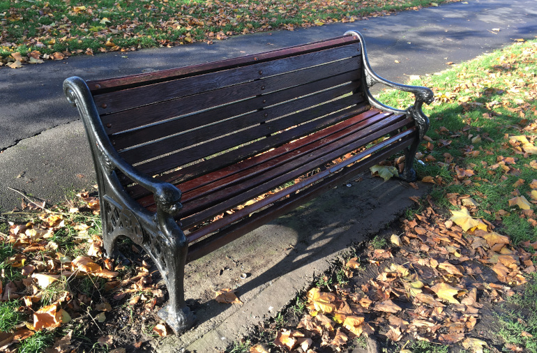 Bench, Victoria Park by Judy Darley