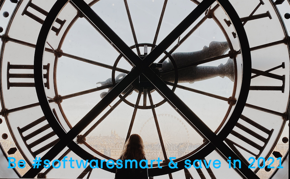 Photo of a silhouetted woman standing in front of a huge clock face. Photo by Hannah Busing on Unsplash_crop
