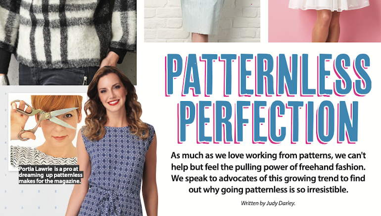 SS39 Patternless Perfection feature crop showing details of sewing projects.